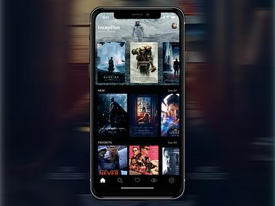 Movies iOS App - iPhone X dark app ios iphone x iphone mobile movies ui ux