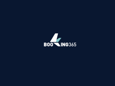 Booking 365 illustration logodesign branding booking tourism logo plane ticket