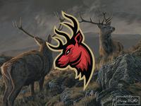 Deer head logo concept.