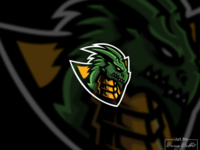 Dragon head logo concept.