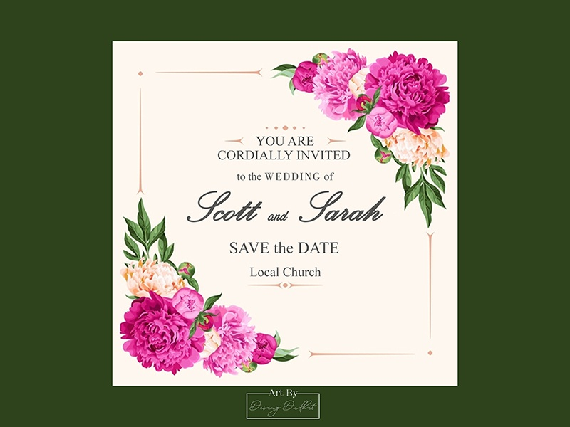 Sarah Scott Wedding Invitation Card Design By Devang