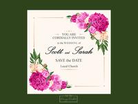 Sarah & Scott Wedding invitation card design