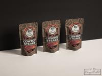 Cowboy Steaks Packaging Design