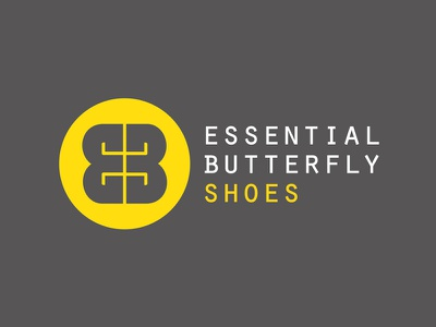 Logo // EB // Essential Butterfly Shoes logo branding shoes butterfly eb