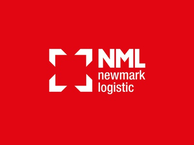 Logo // NML // Newmark Logistic arrow nml logistic logo red branding box shipping