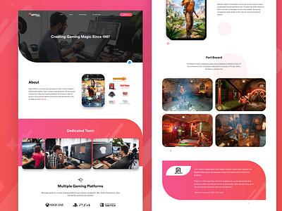 Appeal Studios - Gaming Studio Website exciting vivid colors vivid bright gaming website gaming