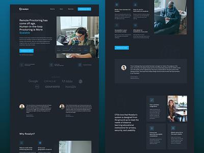 AI Startup Website dark mode dark ai website clean minimal