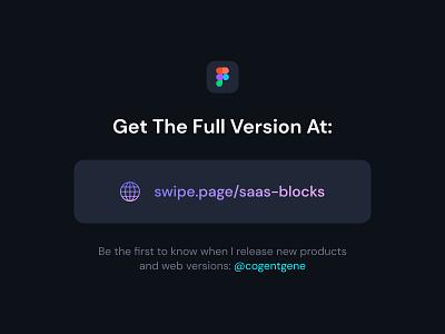 SaaS Blocks Figma UI Kit Freebie landing page website theme template