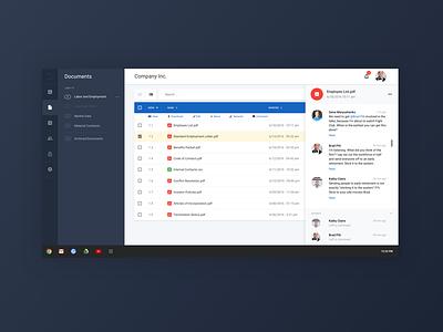 Document Management Dashboard UI/UX document preview web app company dashboard document dashboard material design ux ui