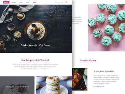 MSNL - Pastry Blog Page Sketch Freebie website free freebie cupcakes bakery sweets pastry