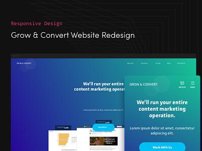 Grow & Convert Responsive Website green blue website-design responsive-design