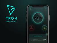 Tron (TRX) Crypto Wallet Concept iOS