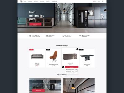Shopify Ecommerce Theme cart minimal-design furniture theme ecommerce shopify