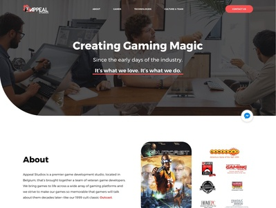 Gaming Studio Website