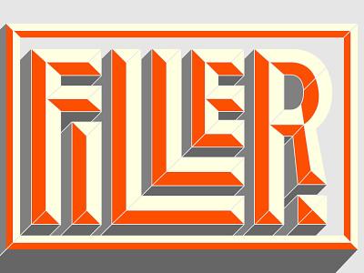 Bevel Level: Filler bevel filler typography orange box 3d