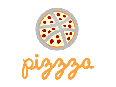 Pizzza dribbble pizzza pizza logo