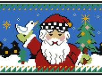 Pixel Santa