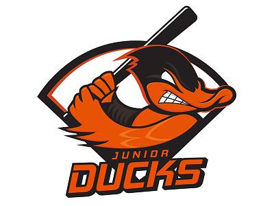 Jr Ducks_final_FINAL sports orange logo baseball ducks jr junior