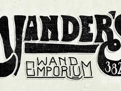 Ed Vander's Wand Emporium ed vander wand emporium bc sign type letters hand drawn texture typography