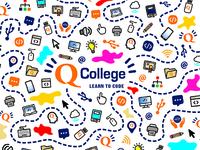 Q College - Learn to Code: Custom Shoe Print Design
