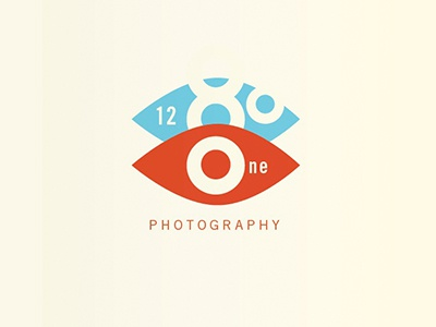 1281 Photography logo logo photography symbol brand red blue eye eyeball