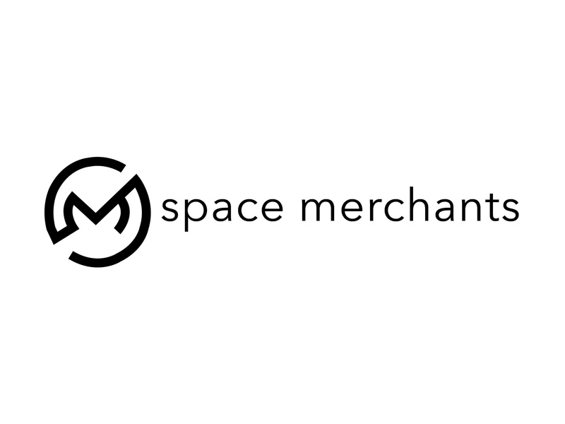Space Merchants Initial Logo geometric space marketing agency marketing typography vector minimal logo illustration design branding