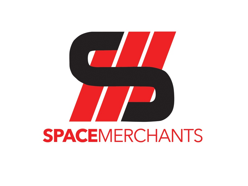 Space Merchants Initial Logo typography icon space marketing agency marketing minimal logo illustration design branding