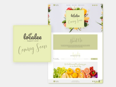 Localee. Online marketplace consisting of local products local market form ui email design web