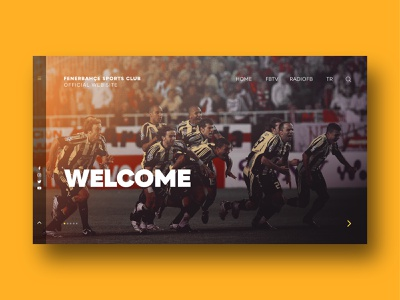 FB Sports Club - Welcome Page welcome page welcome index page website football istanbul rectangle color index layout 2019 sports fenerbahçe blue yellow design web  design web