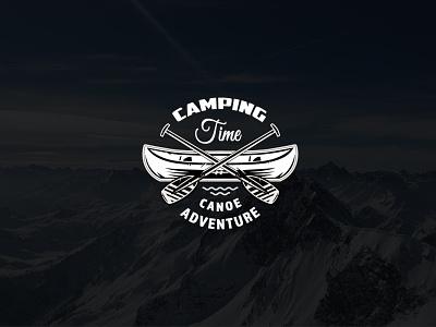 Camping Time Advanture Logo Vintage website lettering flat illustrator minimal web logo branding vector illustration design cartoon vintage advanture logo camping logo