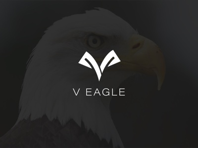 V Eagle Logo design lettering illustrator minimal web logo branding vector illustration design modern design modern logo flat minimalist design minimalist logo design hawak eagle logo
