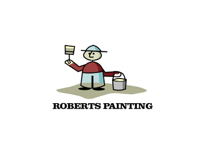 Roberts Painting Logo JPG website lettering flat illustrator minimal web logo branding vector illustration design painting painting illustration
