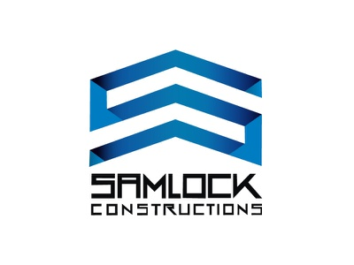 Samclock JPG logotype logos website lettering flat illustrator minimal web logo branding vector illustration design