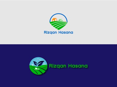 Rizqan Hasana JPG Logo Deisgn ui typography flat logo website lettering flat illustrator minimal web logo branding vector illustration design agriculture business  consulting agriculture logo agriculture