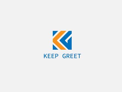 Keep Greet Letter Logo Design typography ui ux minimal web vector design illustration branding logo graphic design 3d