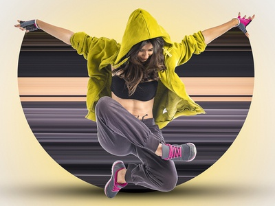 Break Cut Offect Dancer Photoshop landscape animation 3d motion graphics graphic design logo branding vector illustration design effect photoshop bacground change editing