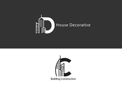 House Decorative Logo Design Letter decorative logo design house contruction minimalist logo vector art illutrator graphic design typography ux ui minimal web logo branding vector illustration design landscape flat minimal letter logo design
