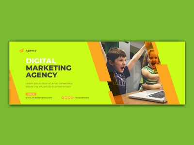 Digital Marketing Agency Ad Banner typography ux ui minimal web logo branding vector illustration design ad banner digital marketing agency banner