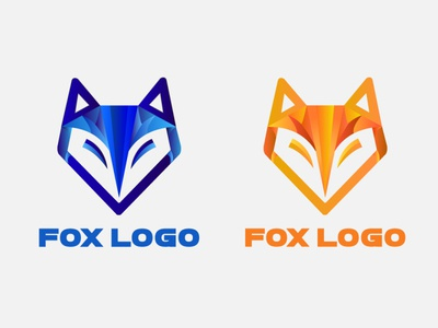Fox Logo Orange Blue