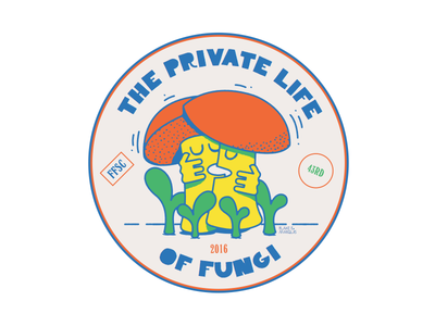 The Private Life of Fungi badge mushroom