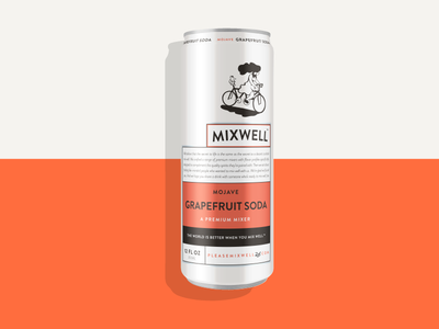 Mixwell Grapefruit Soda identity packaging design