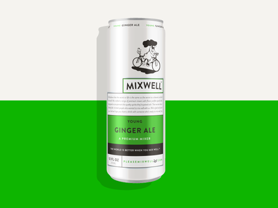 Mixwell Young Ginger Ale identity packaging design
