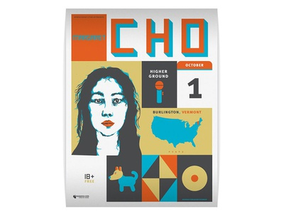Margaret Cho Show Poster comedy illustration poster