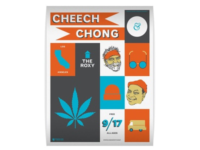 Cheech and Chong comedy illustration poster