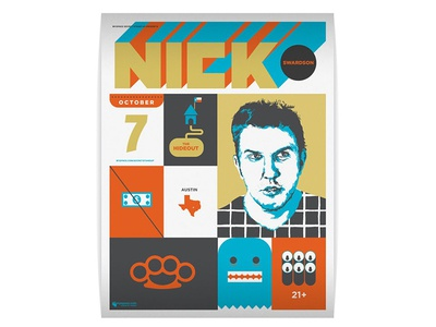 Nick Swardson comedy illustration poster