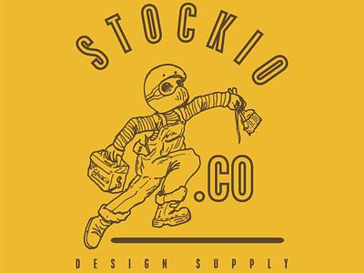 Stockio Logo ikon flat design branding vector illustration vektor merek logo ilustrasi flatedesign desain