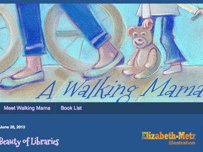 Walking Mama pastels illustration drawing blog