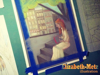 A Tree Grows in Brooklyn (part 2!) illustration book cover pastels in progress