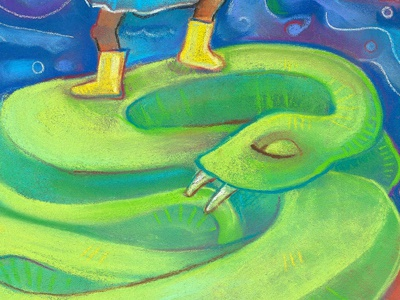 Close-up of a victory. illustration pastels drawing childrens