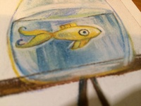 Startled goldfish